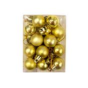 Vanoční koule pr. 2,5 cm zlatá, 24 ks