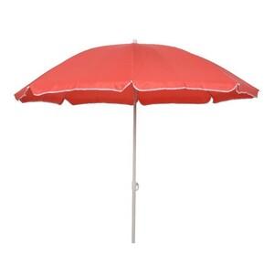 Plážový slunečník červená, pr. 180 cm