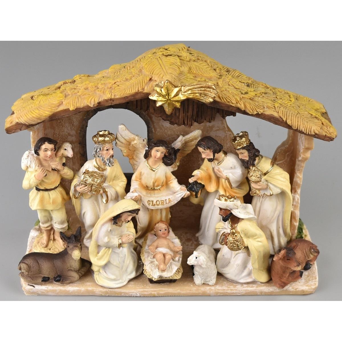 Vánoční dekorace Betlém, 18 x 12 cm