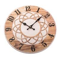 Zegar ścienny Mandala 34 cm, naturalny