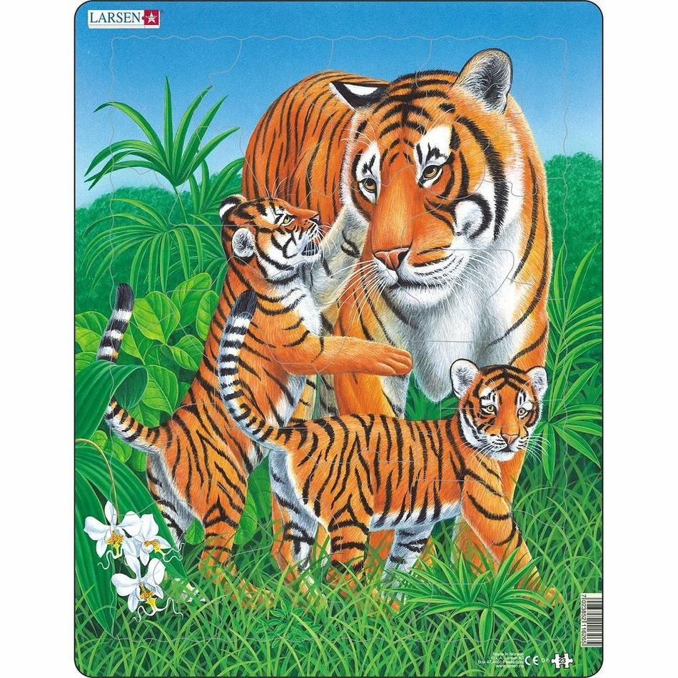 Larsen Puzzle Tygří rodinka, 23 dílků