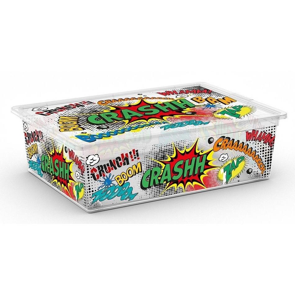 KIS úložný C Box Style Comics L 27l s kolečky