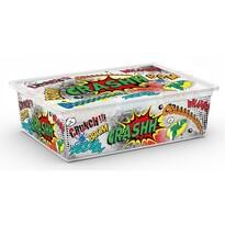 KIS Dekorační úložný box C Box Style Comics L, 27 l
