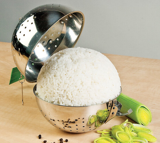 Nerezová koule na rýži