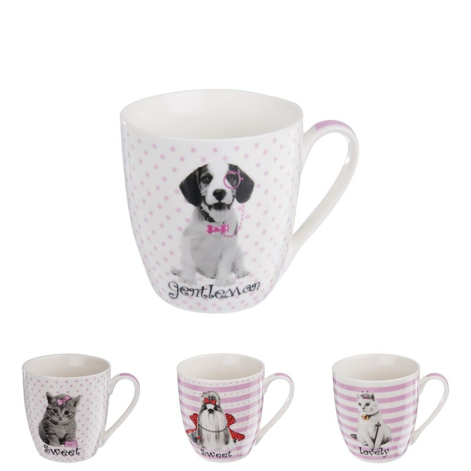 Orion Sada porcelánových hrnků Sweet Animal 500 ml, 4 ks