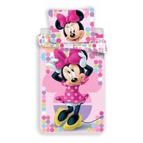 Lenjerie de pat copii Jerry Fabrics, , Minnie Pink 03, din bumbac, 140 x 200 cm, 70 x 90 cm