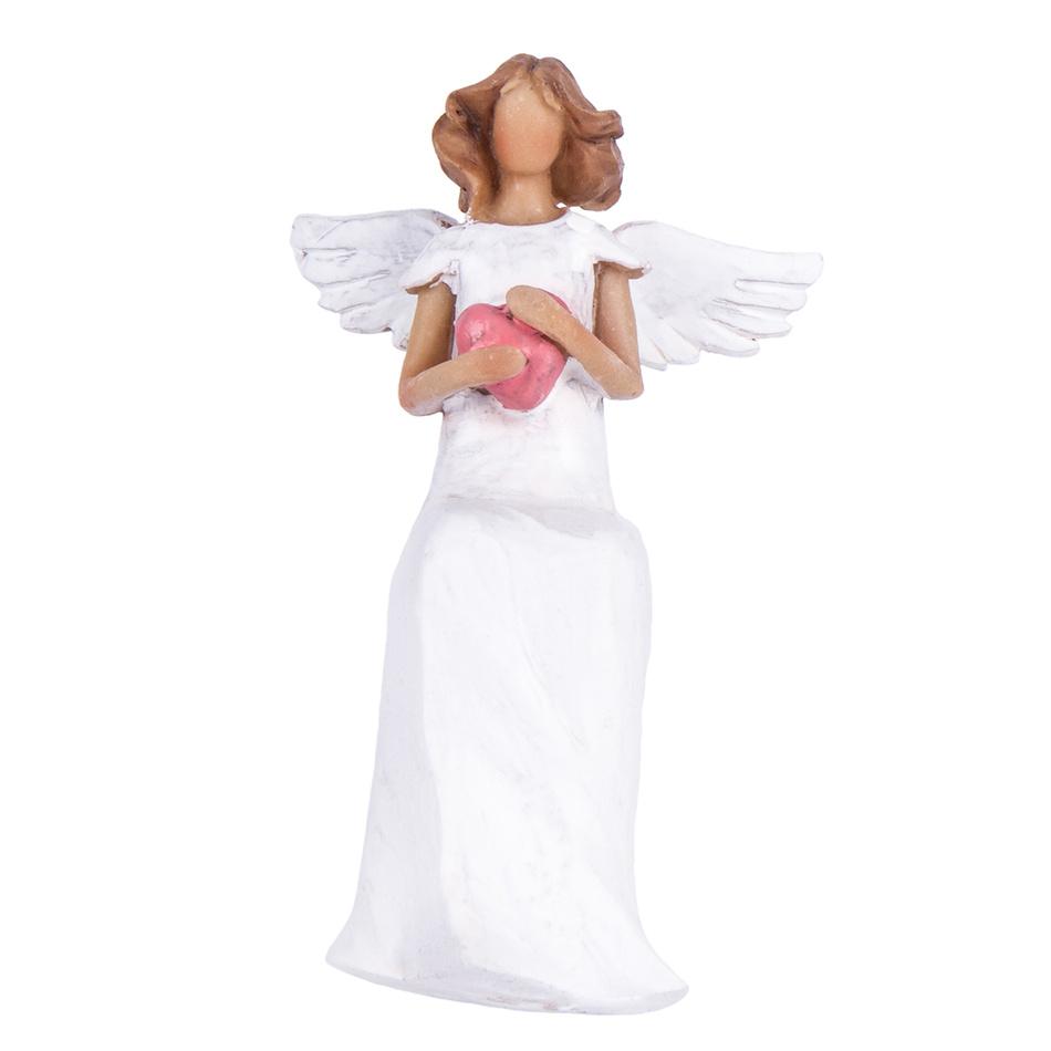 Sedící anděl se srdcem