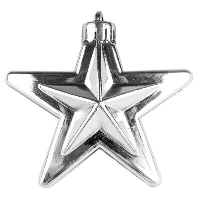 Hvězda stříbrná 6 ks
