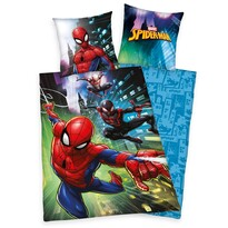 Lenjerie de pat Herding Spiderman, din bumbac, pentru copii, 140 x 200 cm, 70 x 90 cm
