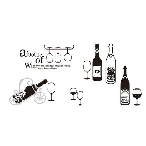 Samolepiaca dekoracia bottle of wine