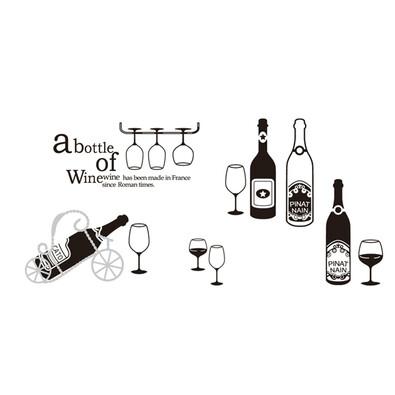 Samolepicí dekorace bottle of wine