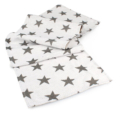 Behúň Stars biela, 33 x 140 cm