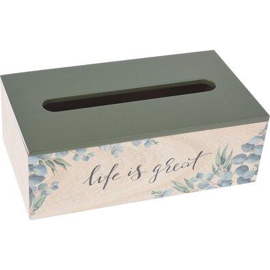 Box na vreckovky Nature, 25 x 14 x 8,6 cm