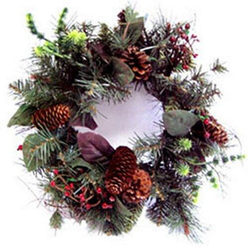 Dekorativní vánoční věnec přírodní, pr. 40 cm, zelená