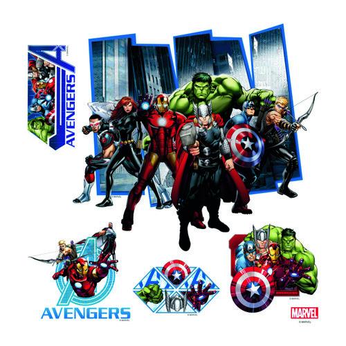Fotografie AG Art Samolepicí dekorace Avengers, 30 x 30 cm