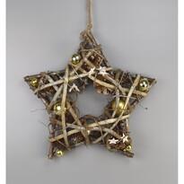 Vánoční závěsná hvězda Luccio zlatá, 34 cm