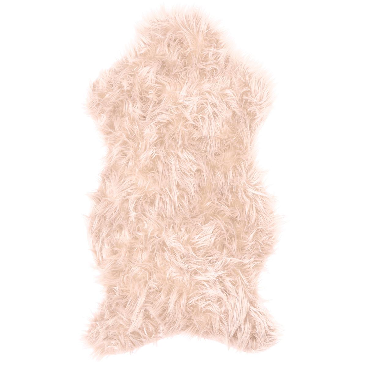 Koopman Kožušina svetloružová, 50 x 90 cm