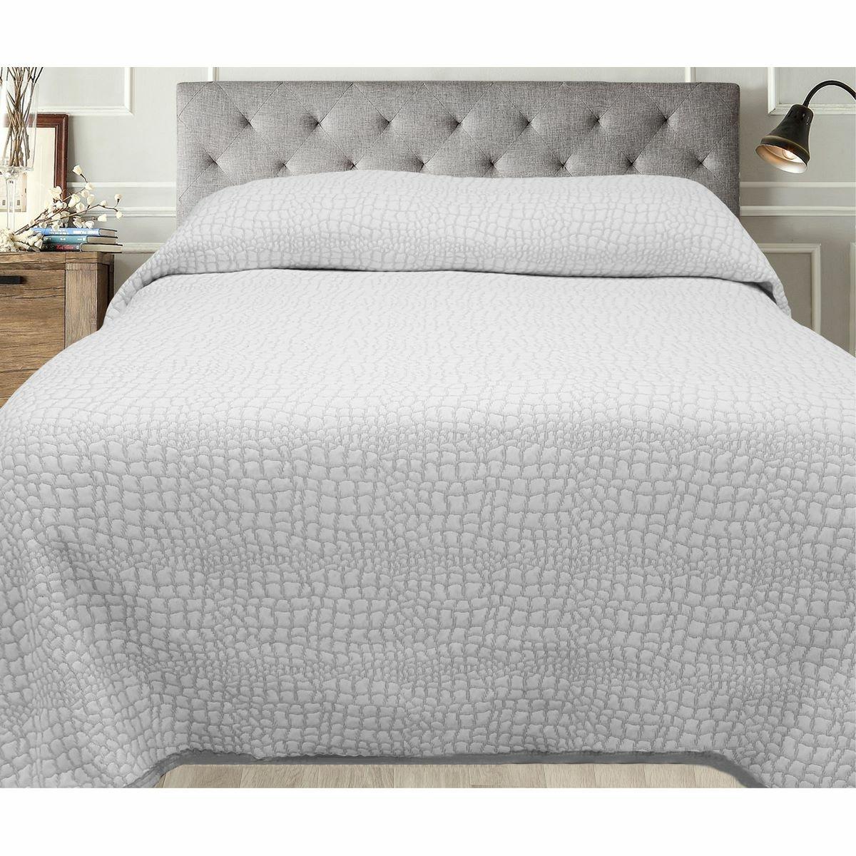 FORBYT Přehoz na postel Carson šedá, 140 x 220 cm
