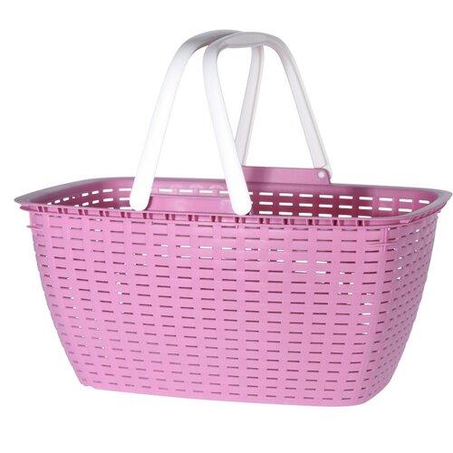 Nákupní košík Ratan, růžová