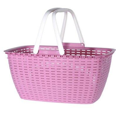 Rattan bevásárlókosár, rózsaszín