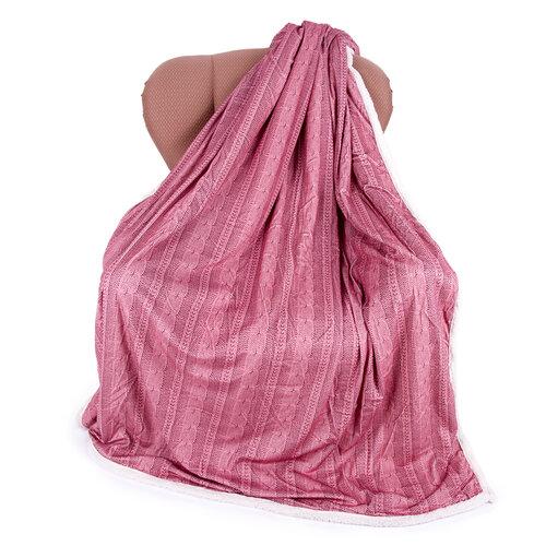 Agnello gyapjú pléd  rózsaszín, 150 x 200 cm