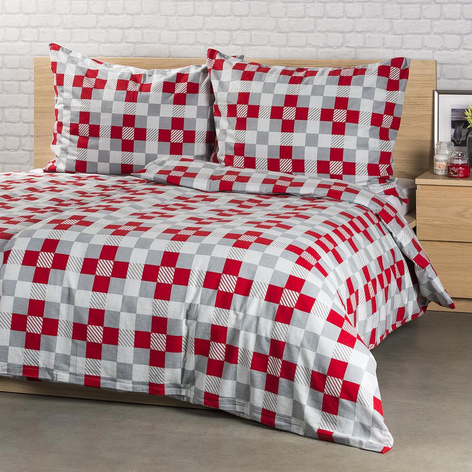 4Home Flanelové obliečky Checker, 140 x 220 cm, 70 x 90 cm, 140 x 220 cm, 70 x 90 cm