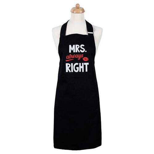 Šik v kuchyni Dámská zástěra Mrs. Always right, 70 x 75 cm