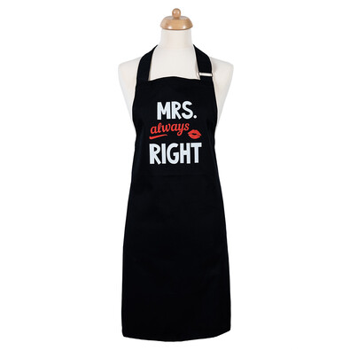 Šik v kuchyni Dámska zástera Mrs. Always right, 70 x 75 cm
