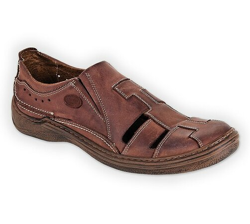 Orto Plus Pánská vycházková obuv vel. 44 hnědá