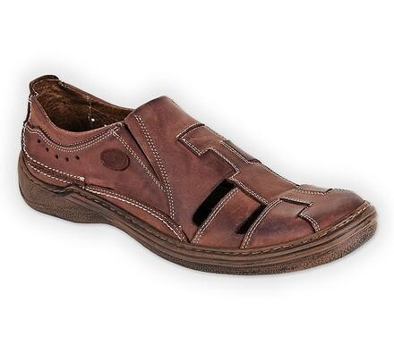 Orto Plus Pánská vycházková obuv vel. 48 hnědá