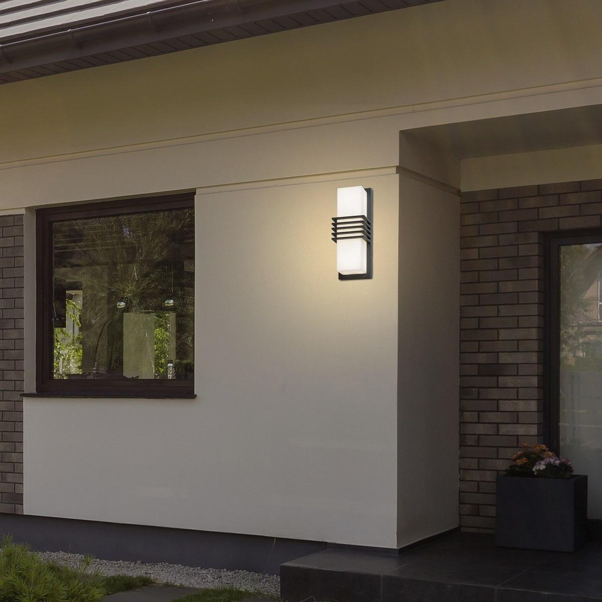Produktové foto Rabalux 8940 Rodez Venkovní LED nástěnné svítidlo, černobílá