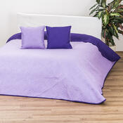 Přehoz Vigo fialová/světle fialová, 220 x 240 cm, 2 ks 40 x 40 cm