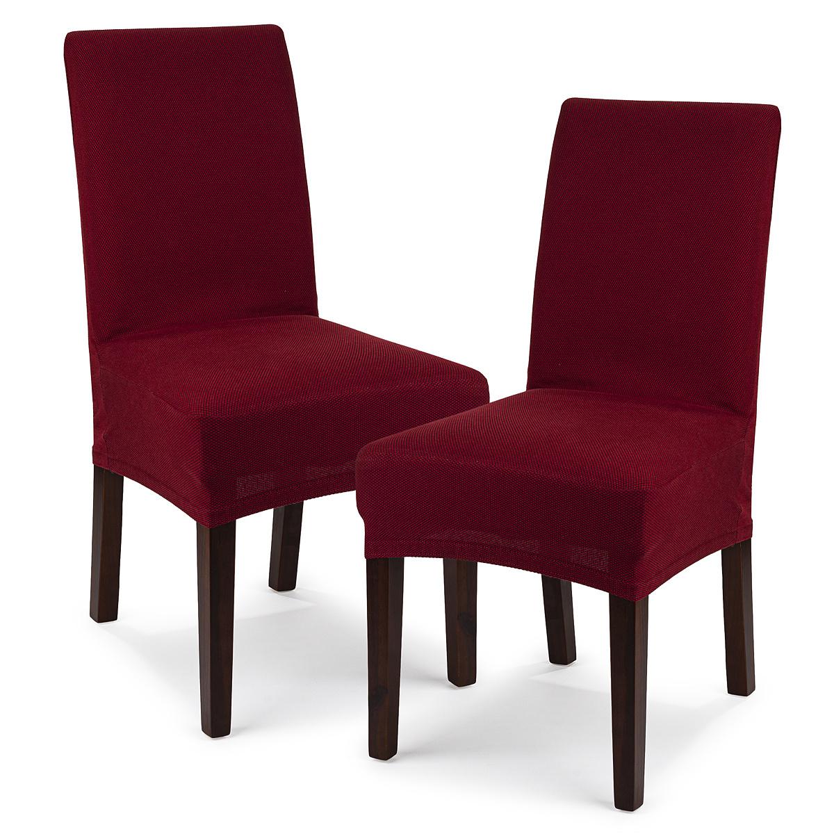 4Home Multielastyczny pokrowiec na krzesło Comfort, bordo, 40 - 50 cm, zestaw 2 szt.