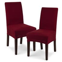 Husă multielastică 4Home Comfort pentru scaun, bordo, 40 - 50 cm, set 2 buc.