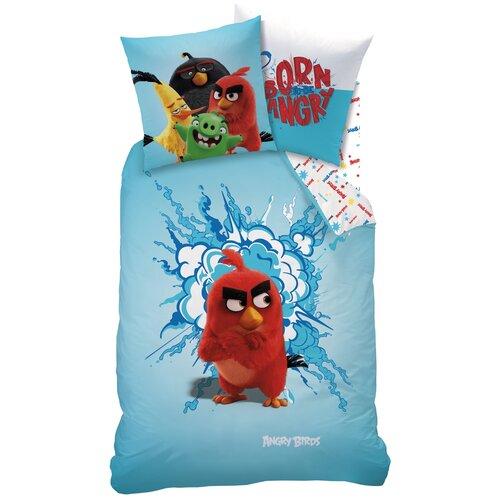 Detské bavlnené obliečky Angry Birds red, 140 x 200 cm, 70 x 90 cm