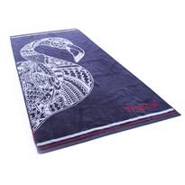 DecoKing Ręcznik plażowy Navy Flamingo, 90 x 180 cm