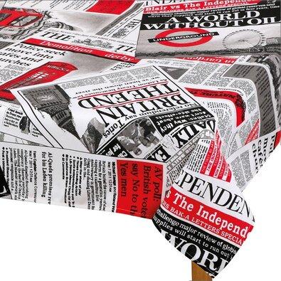 Ema Újság abrosz piros, 140 x 160 cm