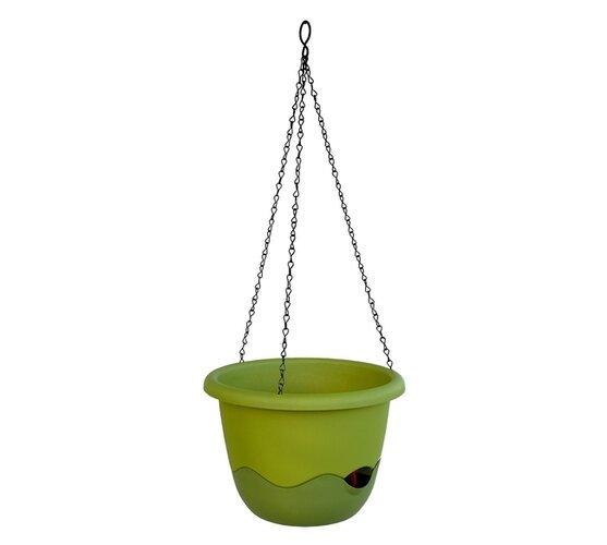 Plastia Samozavlažovací květináč Mareta zelená, pr. 25 cm