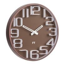 Future Time FT8010BR Numbers Dizájner falióra, átmérő: 30 cm