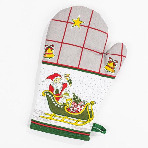 Kuchynská súprava Vianoční sobi, zelená