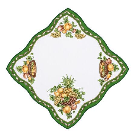 Obrus owoce zielony, 35 x 35 cm