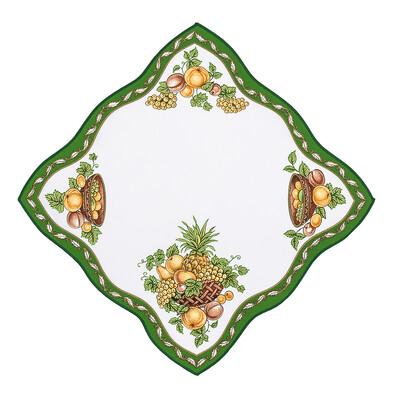 Ubrus ovoce zelená, 35 x 35 cm