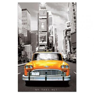 Puzzle miniatura Taxi New York, 1000 dílků, černá + žlutá