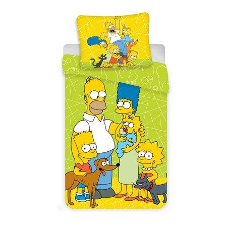 """Bawełniana pościel dziecięca Jerry Fabrics""""Simpsons Green 02"""", 140 x 200 cm, 70 x 90 cm"""