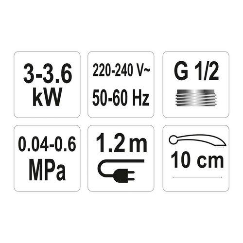 Fala Dřezová baterie s elektrickým ohřívačem vody, 10 cm