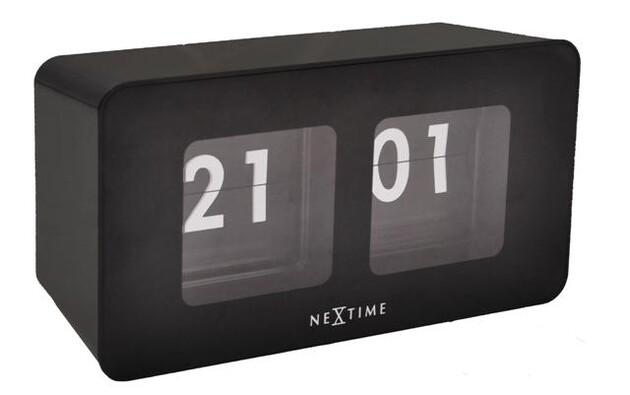 Nextime Flipped 5186zw nástěnné hodiny