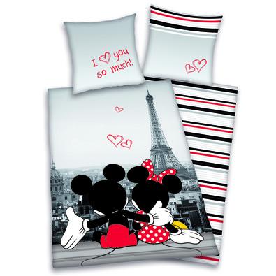 Dětské povlečení Mickey & Minnie Love, 140 x 200 cm, 70 x 90 cm
