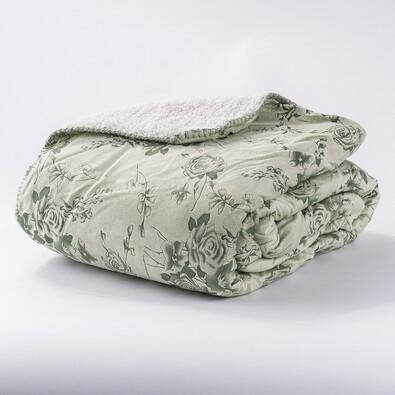 Beránková deka zelená, 140 x 200 cm