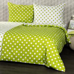 4Home Pościel bawełniana Zielona kropka, 140 x 200 cm, 70 x 90 cm