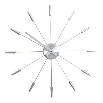 Nástenné hodiny Nextime Plug Inn, strieborná, 60cm